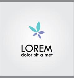 Flower spa logo vector