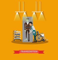 Frankenstein movie concept vector