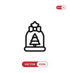 gift bag icon vector image