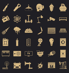 Good energy icons set simple style vector