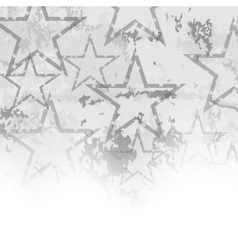 Grey Starry Grunge Background vector image