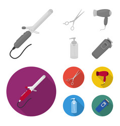 hairdryer hair dryer lotion scissors vector image