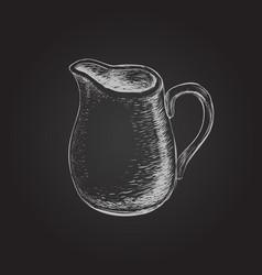 hand drawn of jug vector image