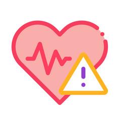 Heart disease icon outline vector