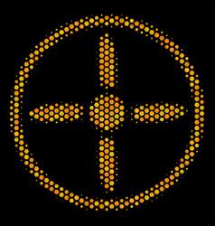 Hexagon halftone drone screw icon vector