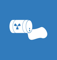 Icon waste pollution of nature vector