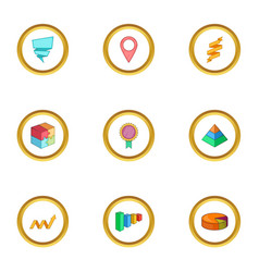 infographic element icons set cartoon style vector image vector image