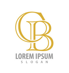 initial letter cb logo concept design symbol vector image