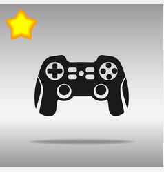 Joystick black icon button logo symbol vector