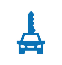 key car logo combination vehicle symbol or vector image