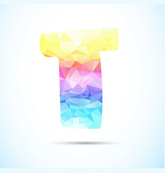 letter t logo icon vector image