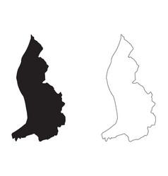 Liechtenstein country map black silhouette vector