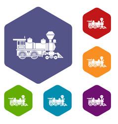 Locomotive icon simple style vector