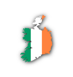 Map and flag of ireland vector