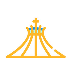 Metropolitan cathedral blessed virgin mary vector