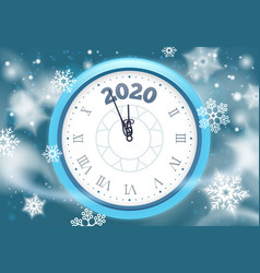 new 2020 year snow poster winter holidays vector image