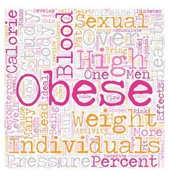 Obesity Sexual Health and Other Health Effects vector