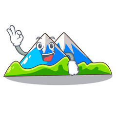 Okay miniature mountain in the character form vector