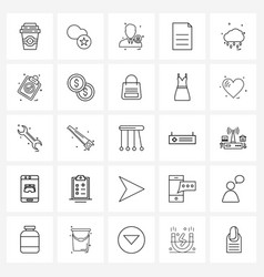 Pack 25 universal line icons for web vector