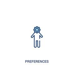 Preferences concept 2 colored icon simple line vector