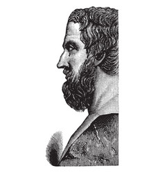 Profile bust of herodotus vintage vector