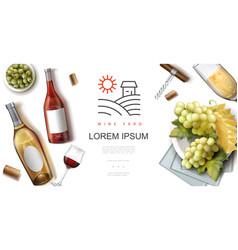 realistic wine premium concept vector image