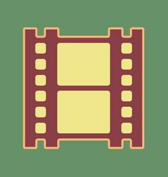 Reel film sign cordovan icon and vector