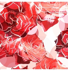 Rose background Floral abstract pattern vector image