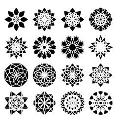 Round Ornament Set vector image