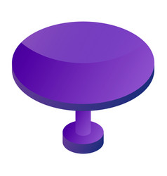 round table icon isometric style vector image