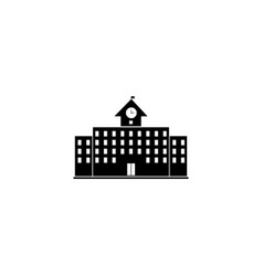 school building icon simple flat vector image