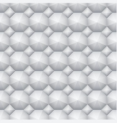 Seamless soft white 3d pattern geometric vector