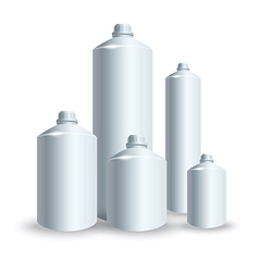 set of silver tank vector image vector image