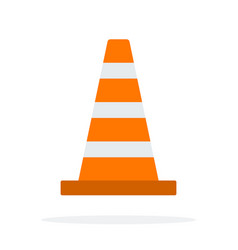 signal traffic cone flat material design isolated vector image