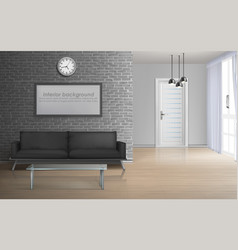 spacious living room realistic interior vector image