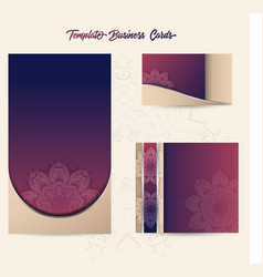 template business cards 2 vector image