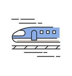 Train rgb color icon high speed shinkansen vector