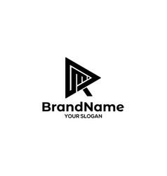 Triangle rm logo design vector
