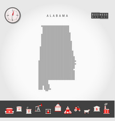 Vertical lines pattern map alabama striped vector