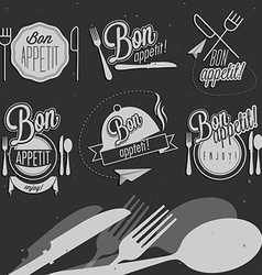 Vintage food design elements vector