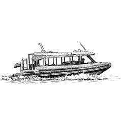 Walking boat vector