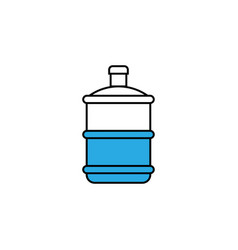 water gallon icon design template isolated vector image