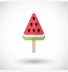 Watermelon popsicle flat icon vector