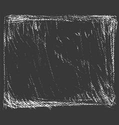 White natural chalk texture on dark background vector