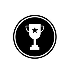 winner cup with a red star in the middle round vector image