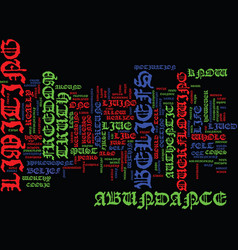 authenticity freedom text background word cloud vector image vector image