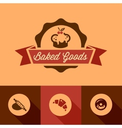 Bakery design icons vector image