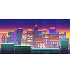 city game background 2d game application vector image