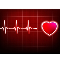 Heart beating monitor EPS 10 vector image