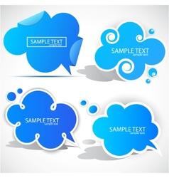 paper cloud bubble vector image vector image
